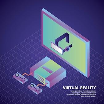 Controles de consola de realidad virtual y auriculares