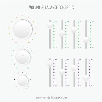 Controles de volumen y balance