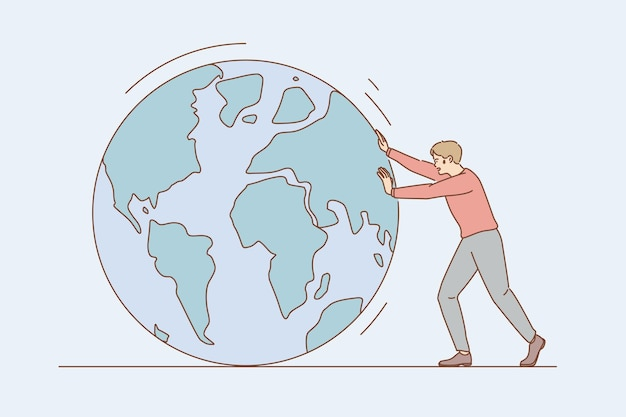 Conversación ambiental y concepto de salvar la tierra.