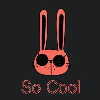Cool bunny vector illustration