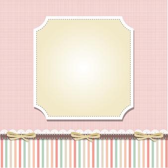 Cool diseño de marco de plantilla para tarjetas de felicitación
