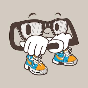 Cool nerd gafas mascota