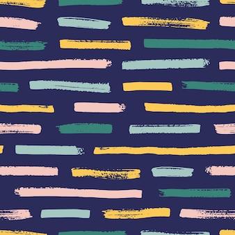 Cool de patrones sin fisuras con rastros de pintura de colores brillantes sobre fondo oscuro.