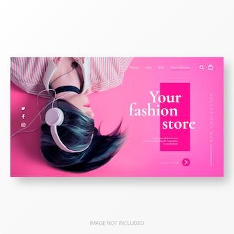 Cool plantilla de página de destino para el negocio de la moda