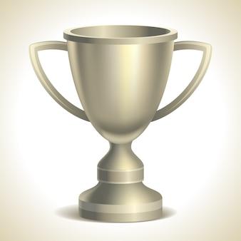 Copa de platino, sobre fondo blanco, ilustración