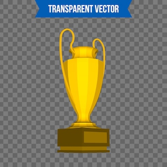 Copa de trofeos plantilla isométrica de estilo 3d.