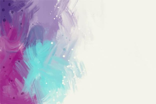 Copia espacio blanco y colores fríos pintados a mano de fondo