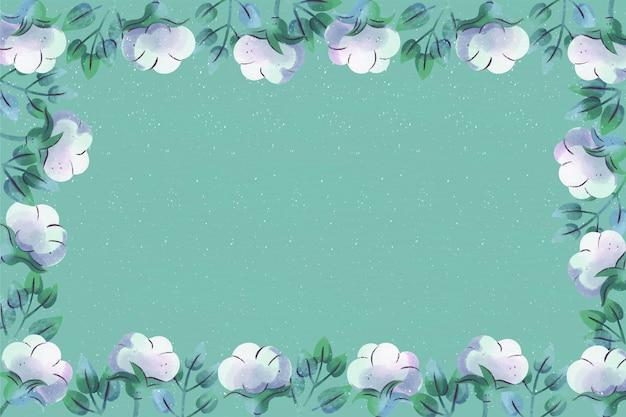 Copia espacio fondo floral azul