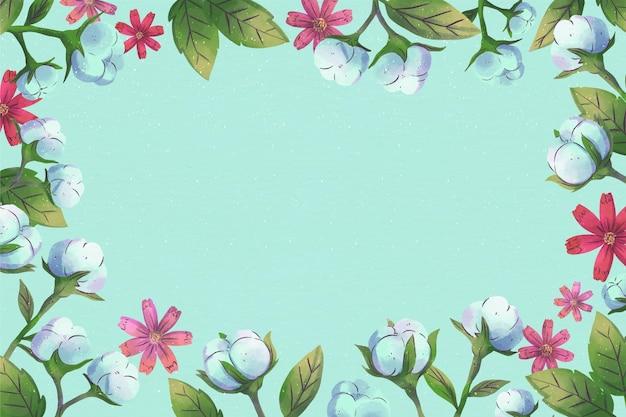 Copia espacio fondo floral