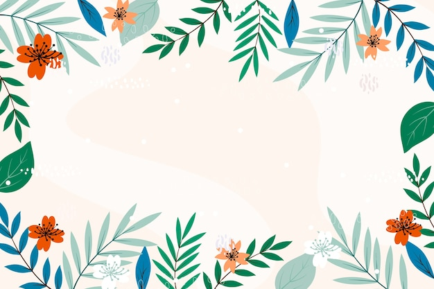 Copia floral espacio marco fondo