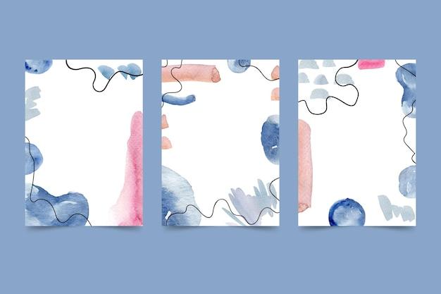 Copie el espacio plantilla de cubierta de acuarela abstracta