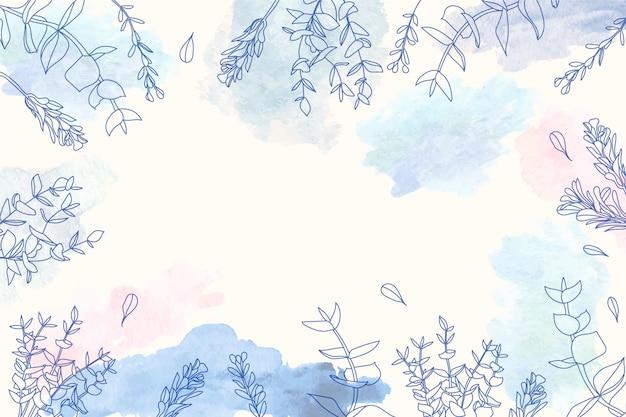 Copie el fondo del espacio con diseño floral