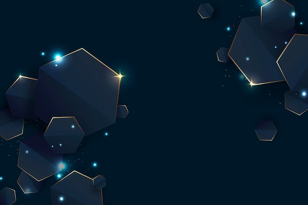 Copie el fondo geométrico degradado futurista del espacio