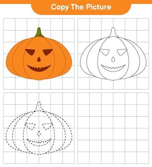 Copie la imagen, traza y color, juego educativo para niños, hoja de trabajo imprimible, ilustración