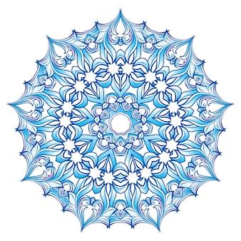 Copo de nieve azul