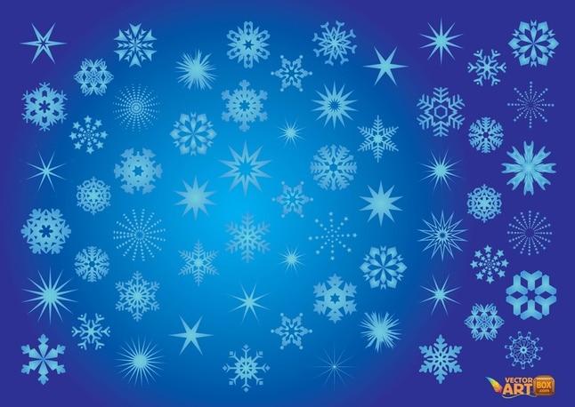 Copos de nieve vectoriales
