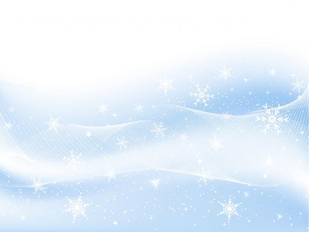 Copos de nieve y estrellas