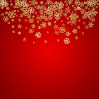 Copos de nieve de navidad y año nuevo