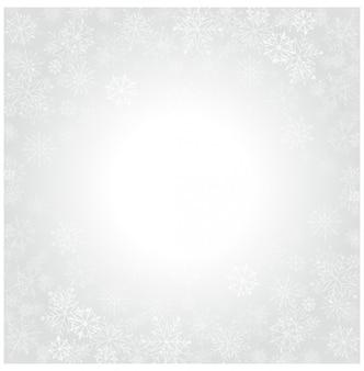 Copos de nieve de navidad y fondo claro de celebración