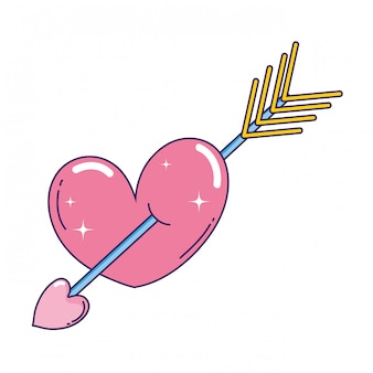 Corazón amor con flecha