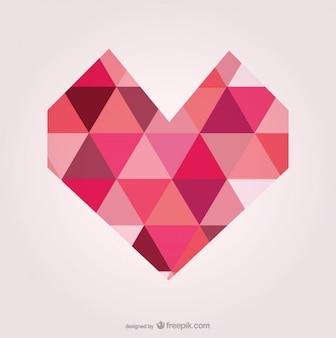 Corazón artístico formas geométricas