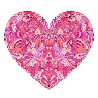 Corazón de colores sobre fondo blanco