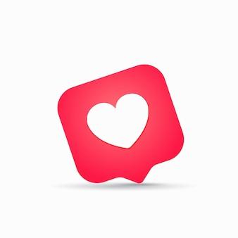 Corazón, como, icono, ilustración