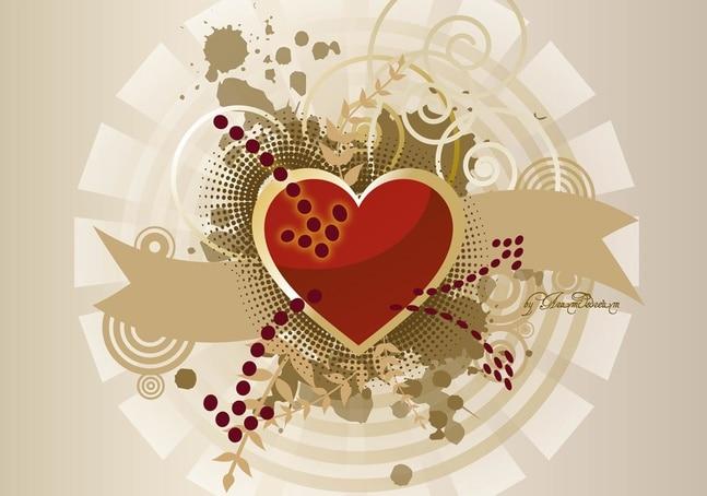 Corazón de gráficos vectoriales bandera