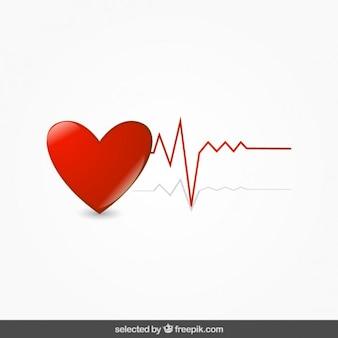 Corazón con electrocardiograma