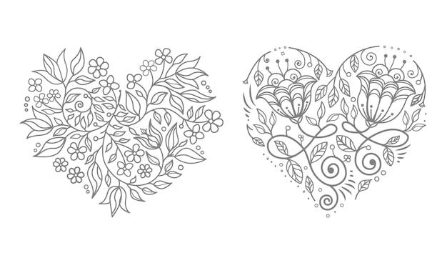 Corazón floral de la boda