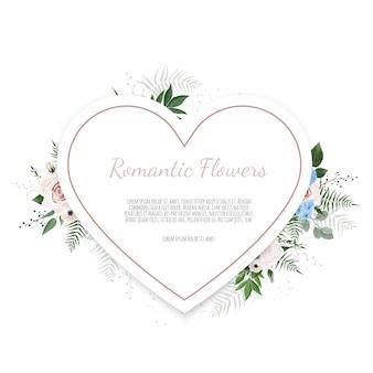 Corazón floral con flores decorativas.
