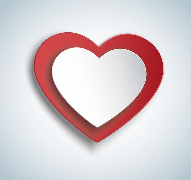 Corazón en el icono de forma de corazón
