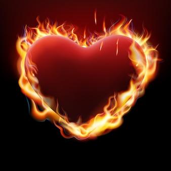 Corazón en llamas.