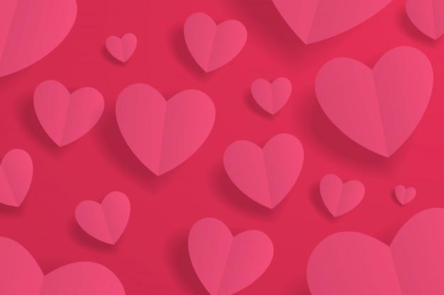Corazón de papel hermoso fondo