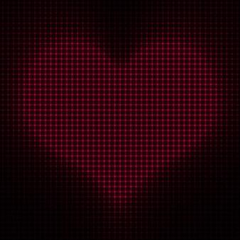 Corazón de puntos de san valentín