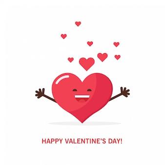 Corazón rojo para el día de san valentín.