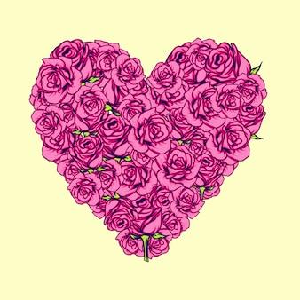 Corazón rosa ilustración