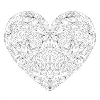Corazón sobre fondo blanco