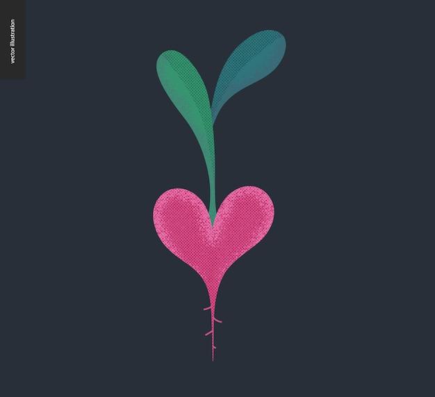 Corazón vegetal - gráficos de san valentín