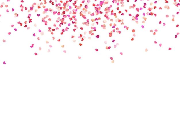 Corazones de papel multicolor. efecto confeti fácil de usar.