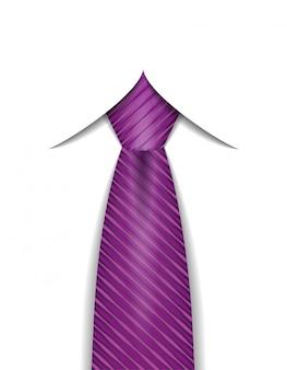 Corbata para hombre una ilustración vectorial de traje