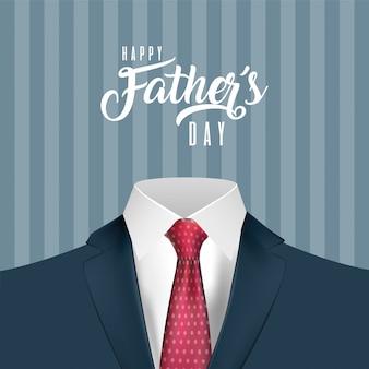Corbata roja puntiaguda en traje del día del padre