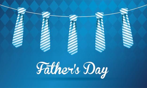 Corbatas colgando del día del padre