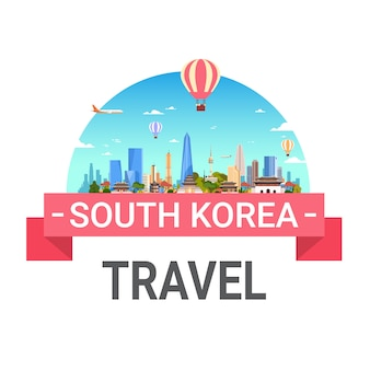 Corea del sur viajes seúl paisaje skyline vista