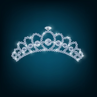 Corona con conceptos de diamantes