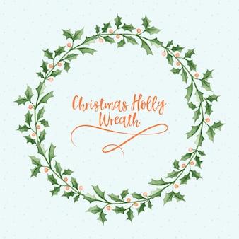 Corona de navidad holly