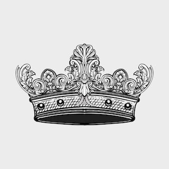 Corona dibujada a mano.