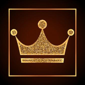 Corona dorada desgastada