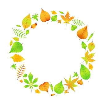 Una corona de hojas de otoño en vector eps 10.