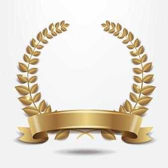 Corona de laurel aislado en blanco